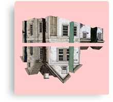 house in a pink Canvas Print