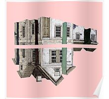 house in a pink Poster