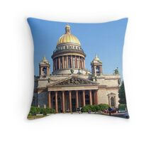 St. Isaacs Cathedral, St Petersburg Throw Pillow