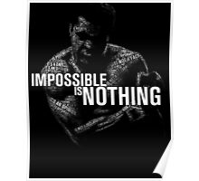 """Impossible is Nothing"" - Muhammad Ali Poster"