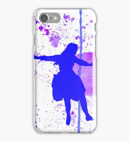 Jump! (Blue) iPhone Case/Skin