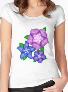 Purple blossoms Women's Fitted Scoop T-Shirt