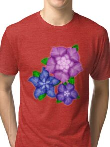Purple blossoms Tri-blend T-Shirt