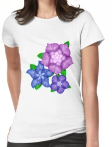 Purple blossoms Womens Fitted T-Shirt