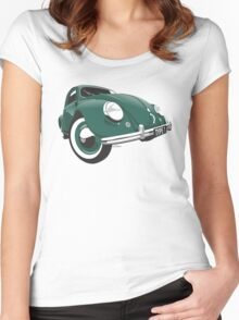 VW Beetle type 1 green Women's Fitted Scoop T-Shirt