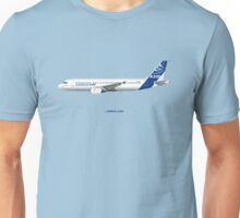 Airbus A320 with Winglets - Blue Version Unisex T-Shirt