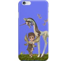 Unicorn and Cute fairy iPhone Case/Skin