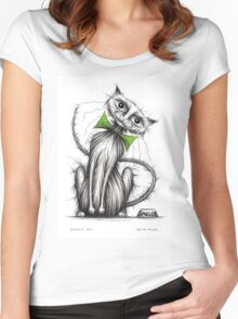Smelly cat Women's Fitted Scoop T-Shirt