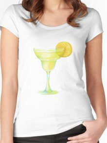 Beaker with lemon Women's Fitted Scoop T-Shirt