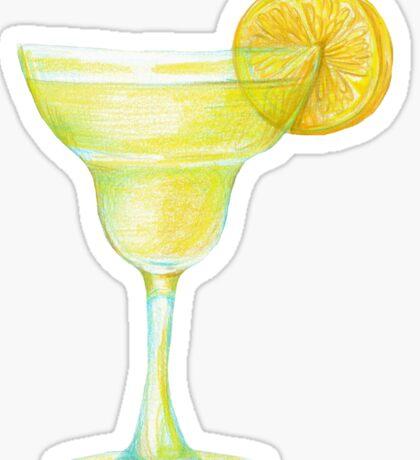 Beaker with lemon Sticker