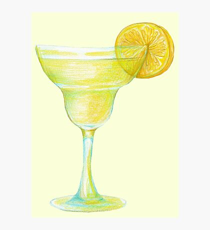 Beaker with lemon Photographic Print