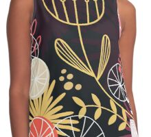 Retro floral Exclusive pattern background Contrast Tank
