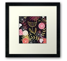 Retro floral Exclusive pattern background Framed Print