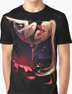 Girl in Glass Graphic T-Shirt