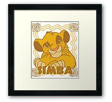 Simba Cub - The Lion King Framed Print