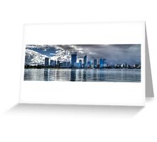 Perth city panorama Greeting Card