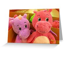 *Two large soft toys in K-Mart in a large box* Greeting Card