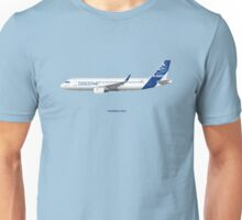 Airbus A320 with Sharklets - Blue Version Unisex T-Shirt