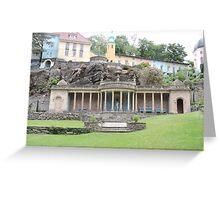 Pillars & Posts At Portmerion Greeting Card