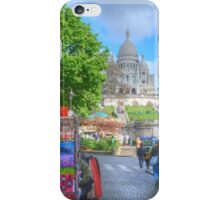 Sacre Couer .. Street View iPhone Case/Skin