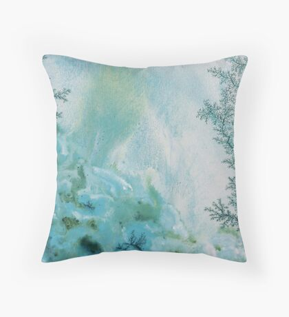 Underwater Winter Throw Pillow
