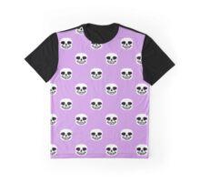Undertale Sans Pattern - Pastel Purple Graphic T-Shirt