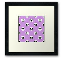 Undertale Sans Pattern - Pastel Purple Framed Print