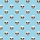 Undertale Sans Pattern - Pastel Blue by sophjade
