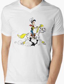 lucky luke Mens V-Neck T-Shirt