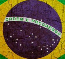 Grunge Brazil flag Sticker