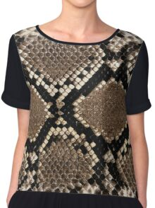 Snake Skin Design Chiffon Top