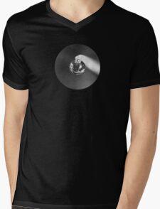 Black & White Droplet Mens V-Neck T-Shirt