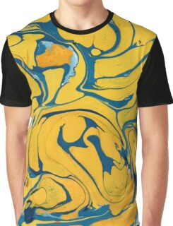 Blue and yellow marble Graphic T-Shirt