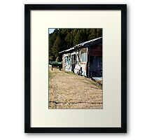 Japanese Farm House Framed Print