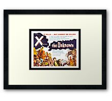 X... the Unknown Framed Print