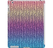Rainbow Gradient Chunky Knit Pattern iPad Case/Skin
