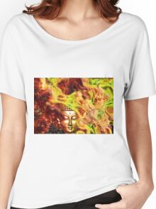 Golden Biddha face Women's Relaxed Fit T-Shirt