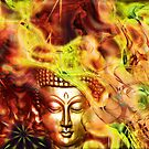 Golden Biddha face by RosiLorz