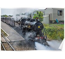 Steam train on the Romney Hythe and Dymchurch Railway, Kent Poster