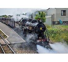Steam train on the Romney Hythe and Dymchurch Railway, Kent Photographic Print