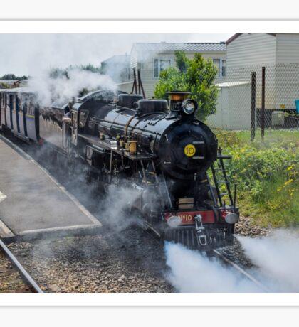 Steam train on the Romney Hythe and Dymchurch Railway, Kent Sticker