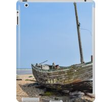 Abandoned fishing boat on Dungeness beach, Kent iPad Case/Skin
