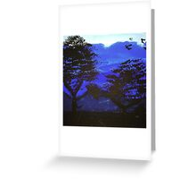 Blue Paradise by Malcolm  Greeting Card