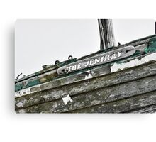 Abandoned fishing boat on Dungeness beach, Kent Canvas Print
