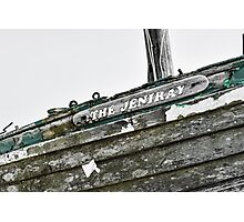 Abandoned fishing boat on Dungeness beach, Kent Photographic Print
