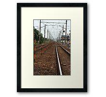 Railroad Tracks Framed Print