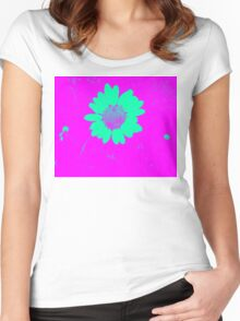 Flower? Women's Fitted Scoop T-Shirt