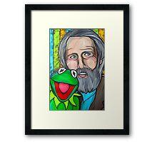 Jim Henson & Kermit the Frog Framed Print