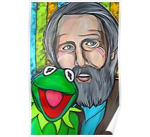 Jim Henson & Kermit the Frog Poster