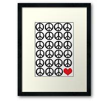 PEACE PEACE LOVE Framed Print